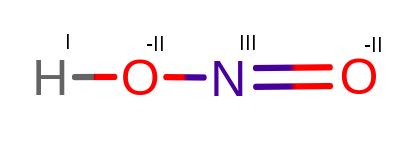 Stopnie utlenienia w HNO2