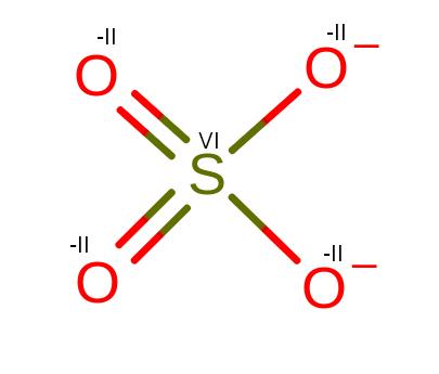 Stopnie utlenienia w SO4-2